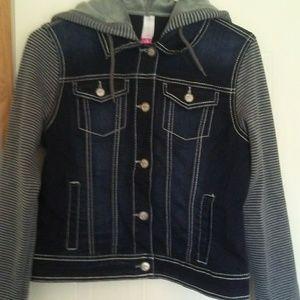 Hoodie Jean jacket